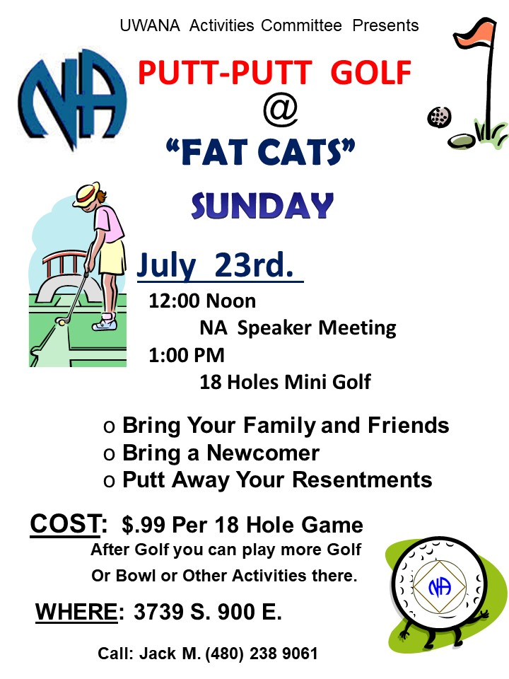 putt putt golf event flyer