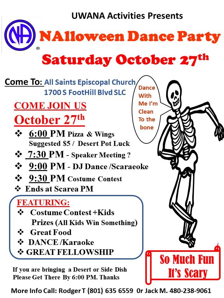 NA Halloween dance flyer